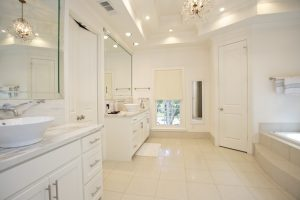 Bright bathroom in luxury home
