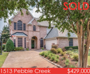 Olga McLemore Solds 1513 Pebble Creek