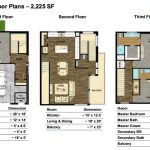 Melrose Heights Type 2A Floor Plans – 2,225 SF